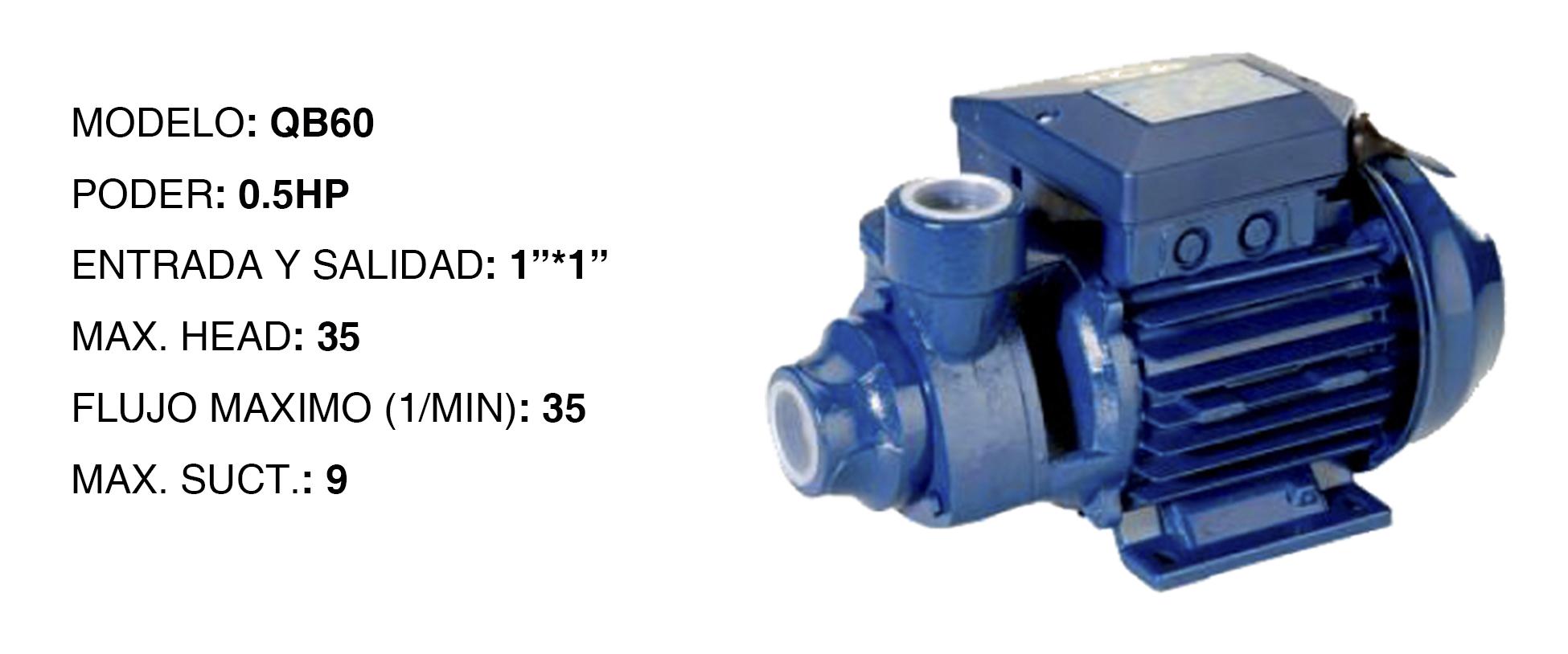 Bomba de agua perif rica high power de 1 2hp alkada for Bombas de agua electricas de presion