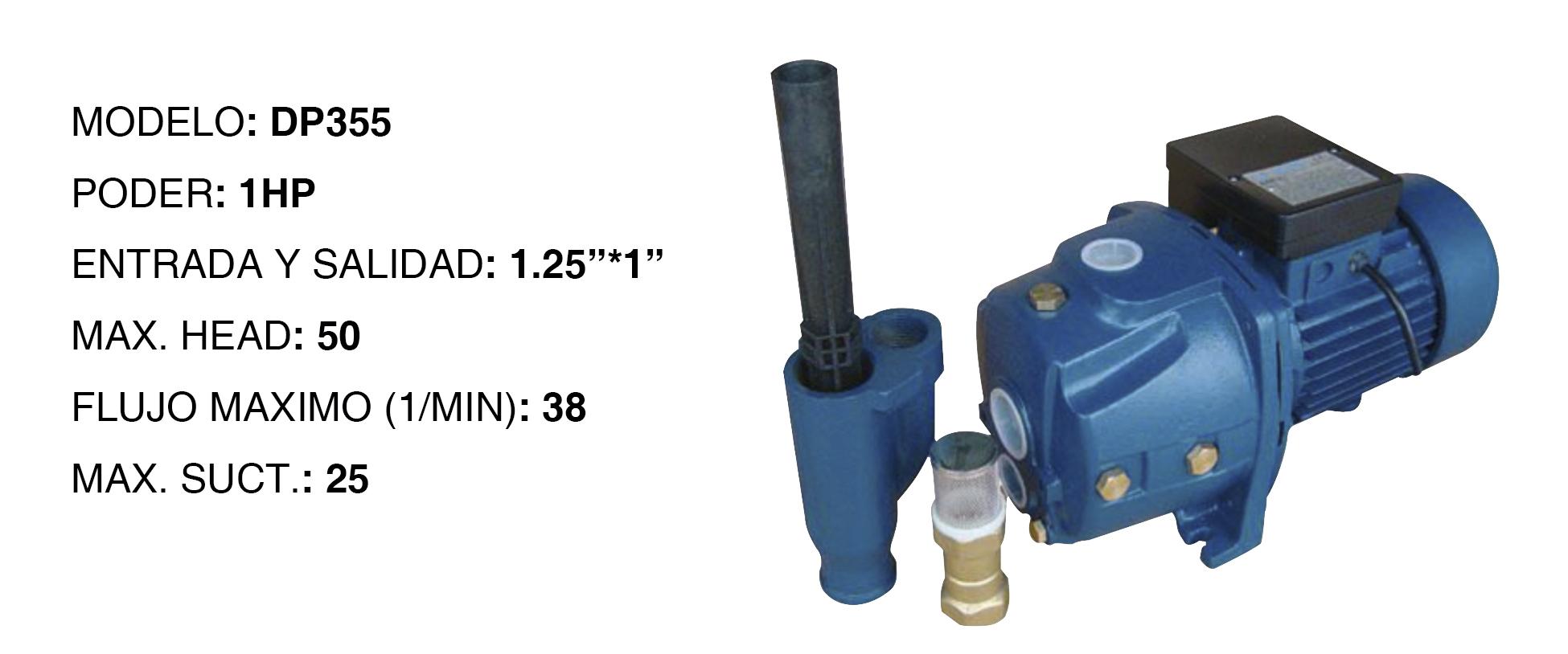 Bomba de agua high power de 1hp p 20 con intectores para - Bombas de agua para pozos ...
